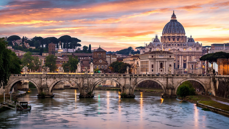 Bridge Of Angels And St Peter s Basilica HD Wallpapers
