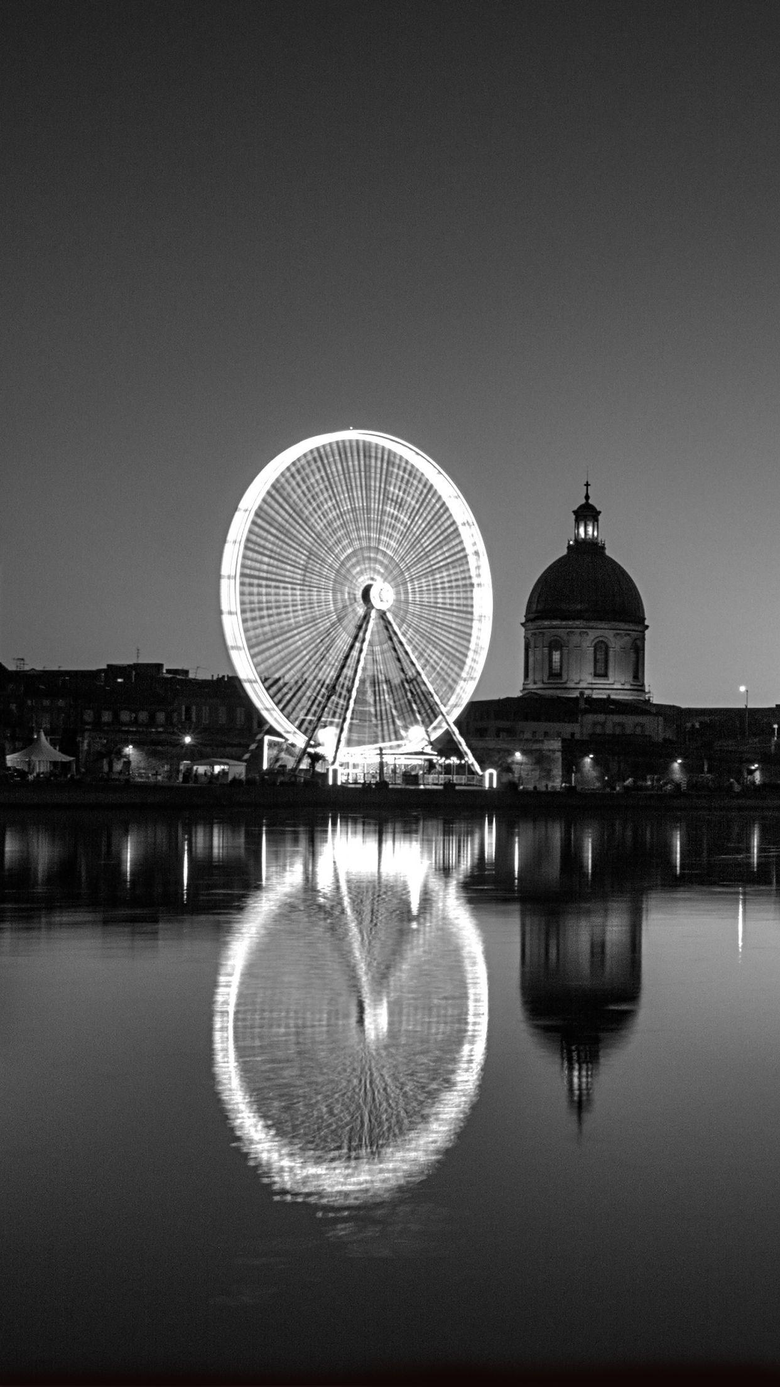 Black and White Toulouse Wallpapers for iPhone X 8 7 6