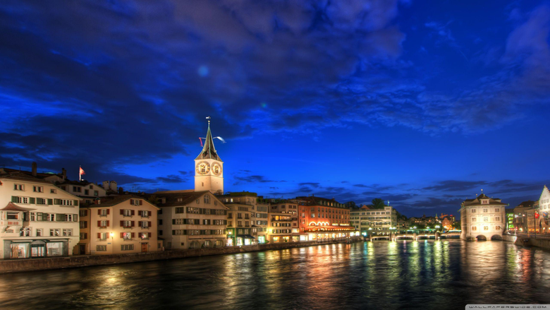 Zurich At Night HDR HD desktop wallpapers High Definition