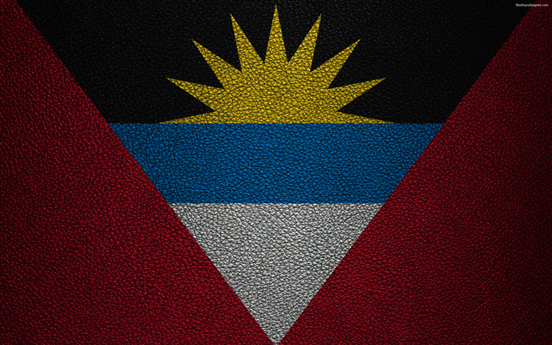 wallpapers Flag of Antigua and Barbuda 4K leather texture