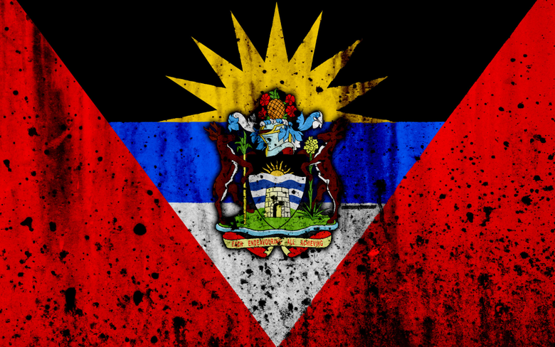 wallpapers Antigua and Barbuda flag 4k grunge flag of