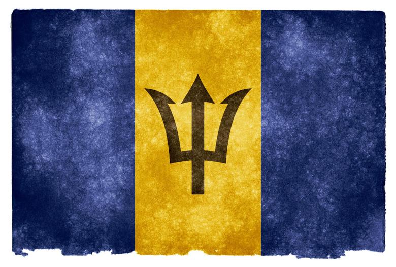 Barbados Grunge Flag HD Wallpapers