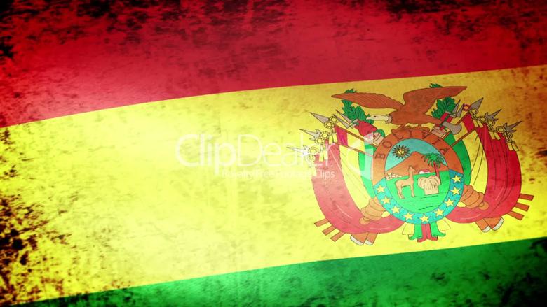 Bolivia Flag Waving grunge look Royalty