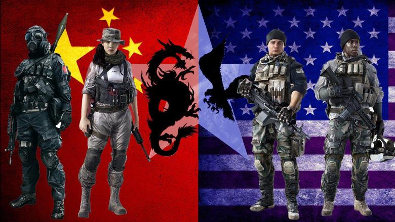 Guns dragons China flags USA gas masks Battlefield 4 wallpapers