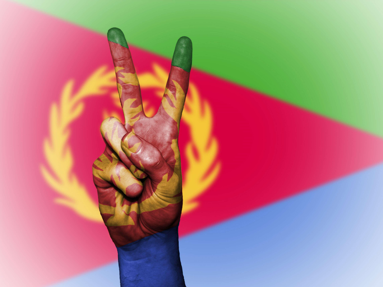 background banner colors country ensign eritrea flag