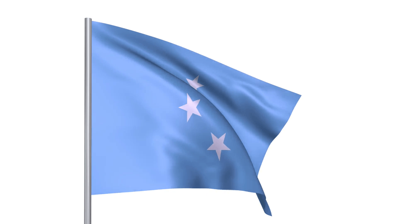 Flags country Federated States of Micronesia national flag Motion