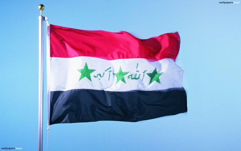 The traditional flag of Iraq HD Wallpapers