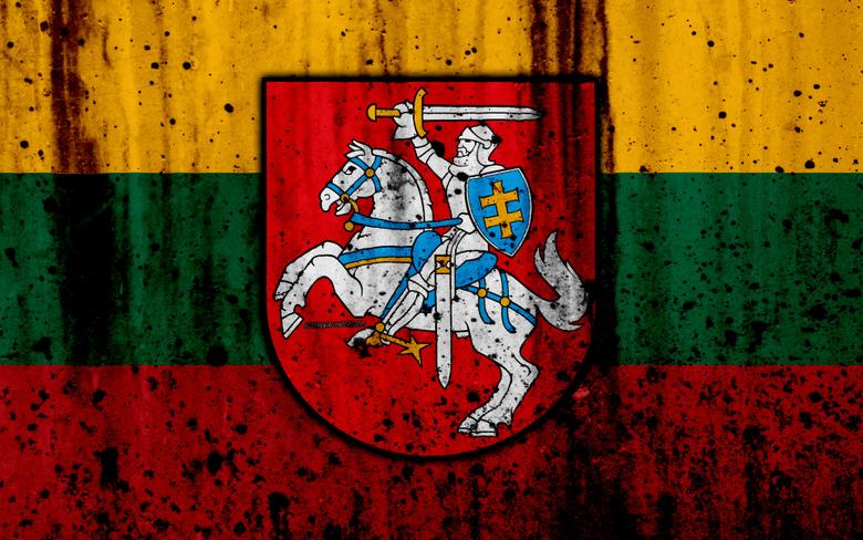 wallpapers Lithuanian flag 4k grunge flag of Lithuania