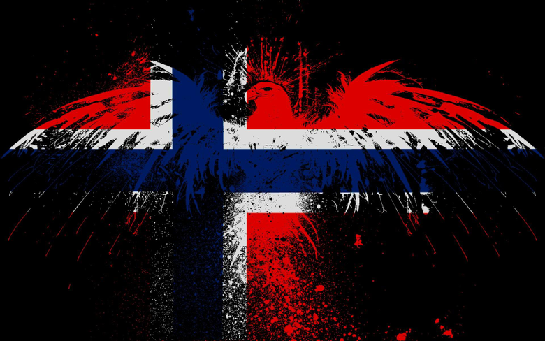 Norwegian eagles Norway flags wallpapers