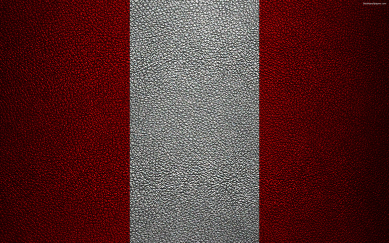 wallpapers Flag of Peru 4k leather texture Peruvian flag
