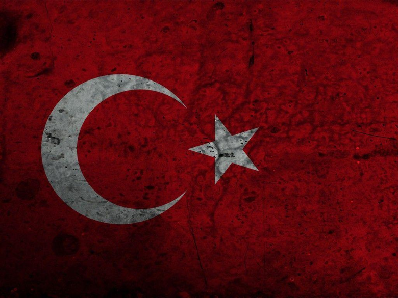 red dirty turkish flag