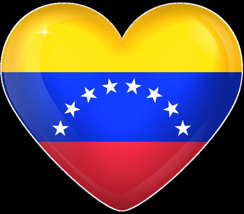 Venezuela Large Heart Flag