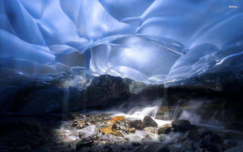 Inside Mendenhall Glacier Alaska wallpapers