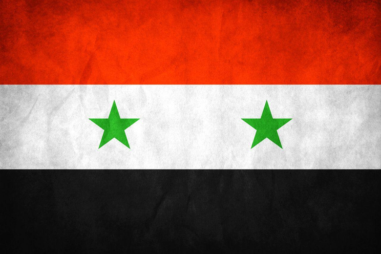 The national flag of Syria And will always be 3