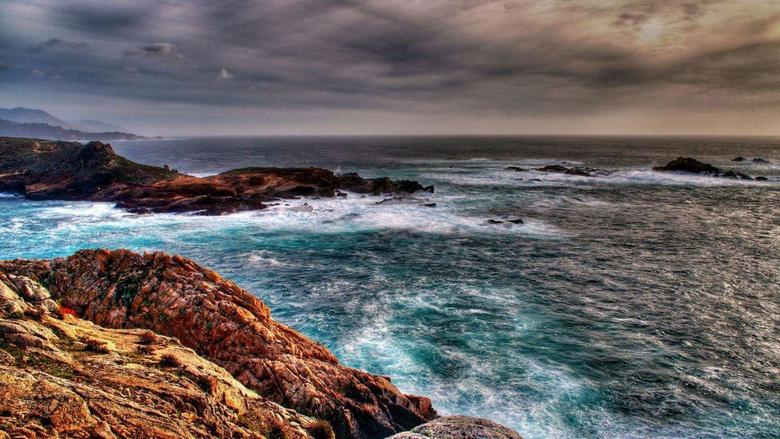 Oceans Lands Ocean Baja Kayakers Arch End California Waves