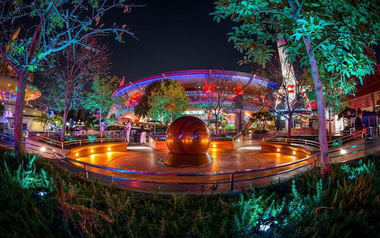 Wallpapers California Disneyland USA HDRI Night Cities
