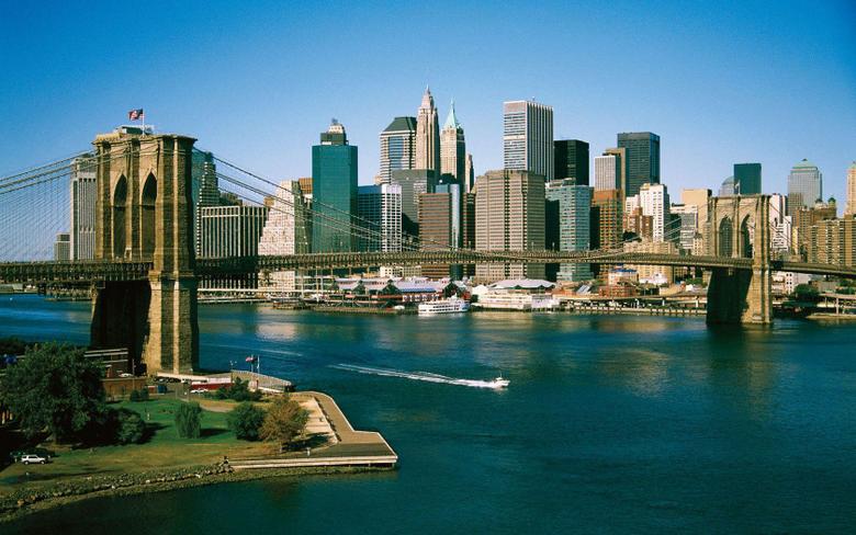 Brooklyn Bridge And Skyline wallpapers