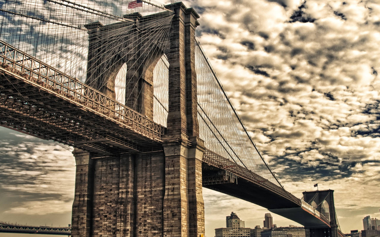 Brooklyn Bridge New York City widescreen wallpapers