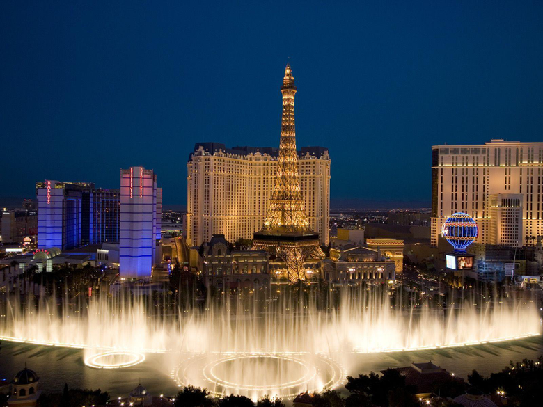 Bellagio Fountains and City View Wallpapers
