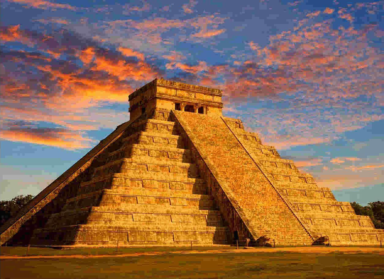 Sunset View Of Wonder Chichen Itza In Mexico wallpapers