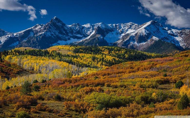 Mountain Landscape In Aspen Colorado HD desktop wallpapers High