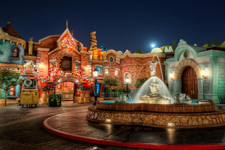 Wallpapers California Disneyland USA Fountains HDRI Parks 4168x2779