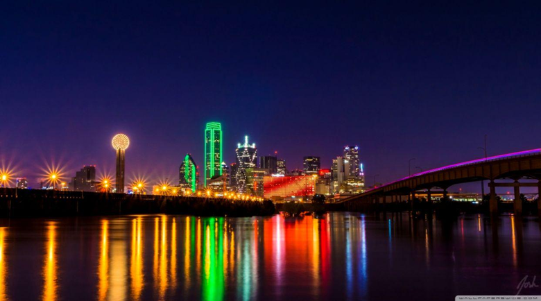 Skyline Dallas At Night Hd Wallpapers