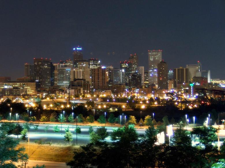 Denver Winter Night HD Wallpaper Backgrounds Image