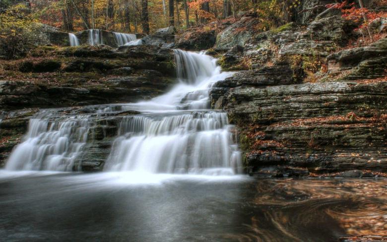 Waterfalls George Childs Park Pennsylvania Delaware Water Gap Pa