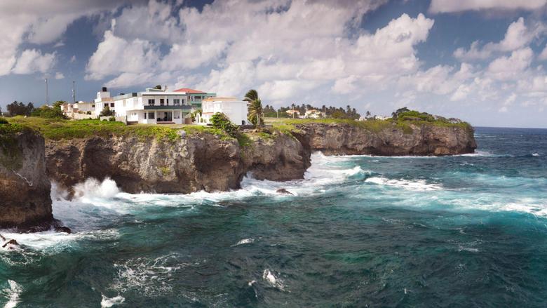 Sea Breeze Dominican Republic Cabrera Cliffs widescreen