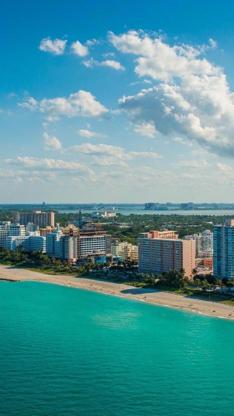 Florida World Sea City Sky Miami Cloud USA HD Wallpapers Desktop