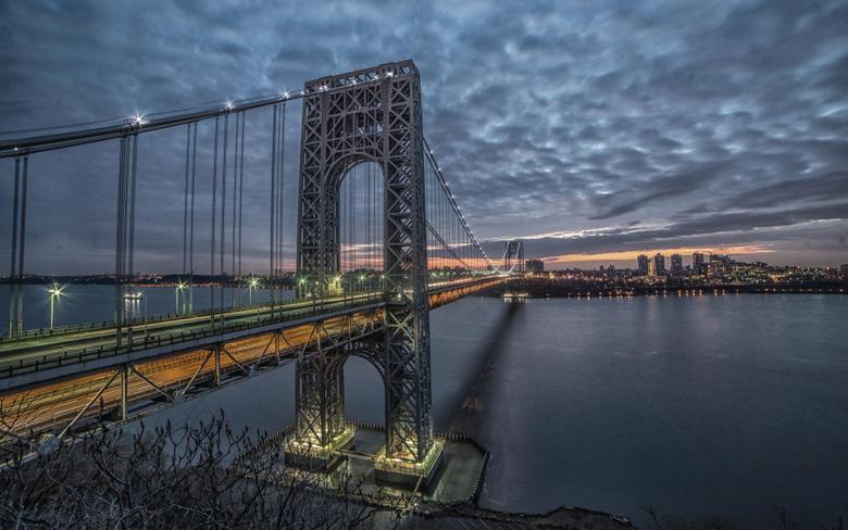 wallpapers George Washington Bridge Hudson River