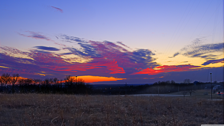 Sunset Lawrence Kansas 4K HD Desktop Wallpapers for Wide