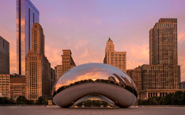 wallpapers Cloud Gate Chicago public sculpture
