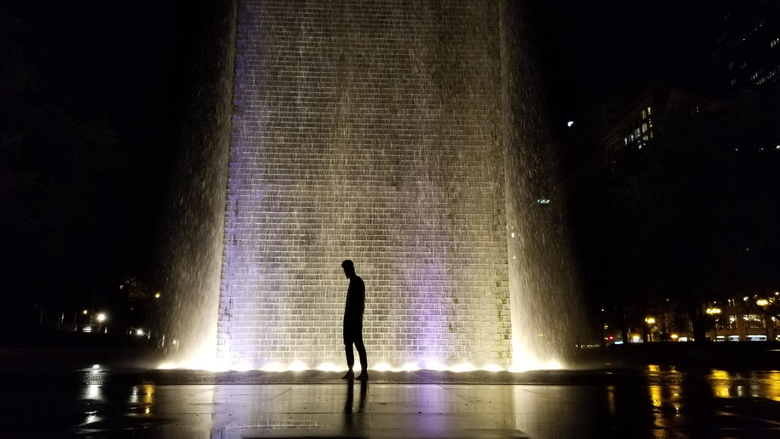 Friends and I went to millennium Park last night to take pictures I