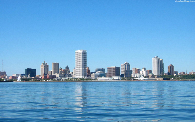 Milwaukee Fascinating Skyline Wisconsin USA Hd Desktop Wallpapers