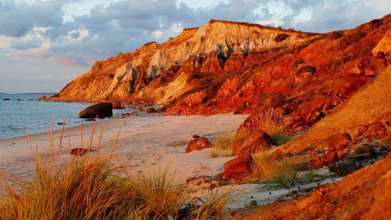 Nature head cliffs vineyard Massachusetts beaches wallpapers