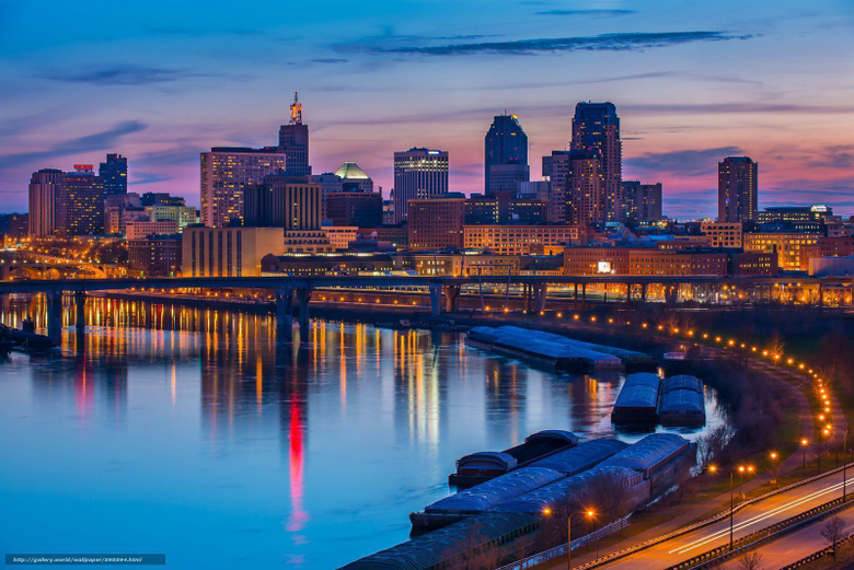 wallpapers Wisconsin Mississippi River city desktop