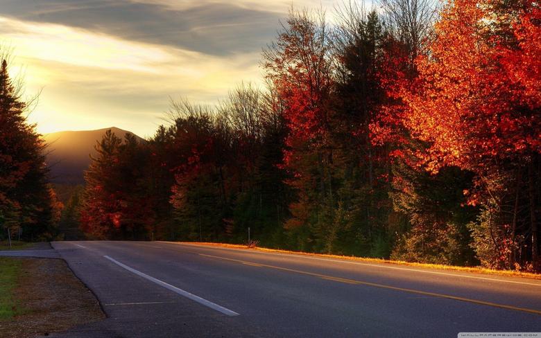 Road In New Hampshire 4K HD Desktop Wallpapers for 4K Ultra HD TV