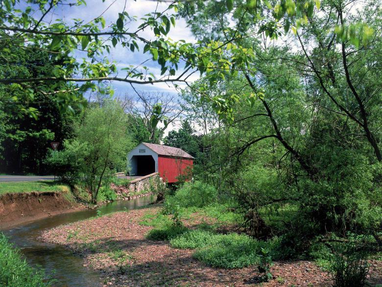 Erwinna Covered Bridge Pennsylvania United States