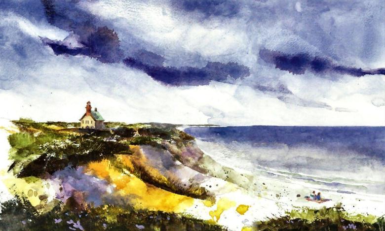 Beaches Block Painting Scenery Beach Landscape Art Artwork Usa