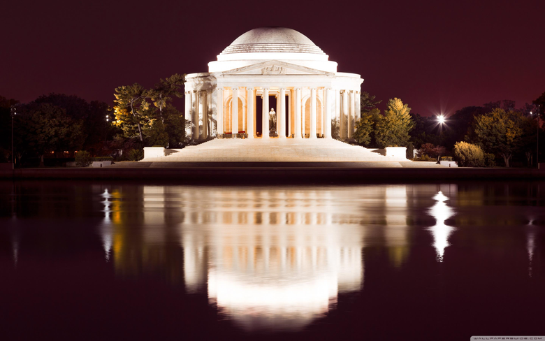 Thomas Jefferson Memorial at Night 4K HD Desktop Wallpapers for 4K