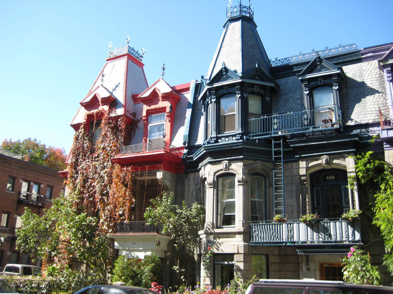 St Louis square homes in Montreal city