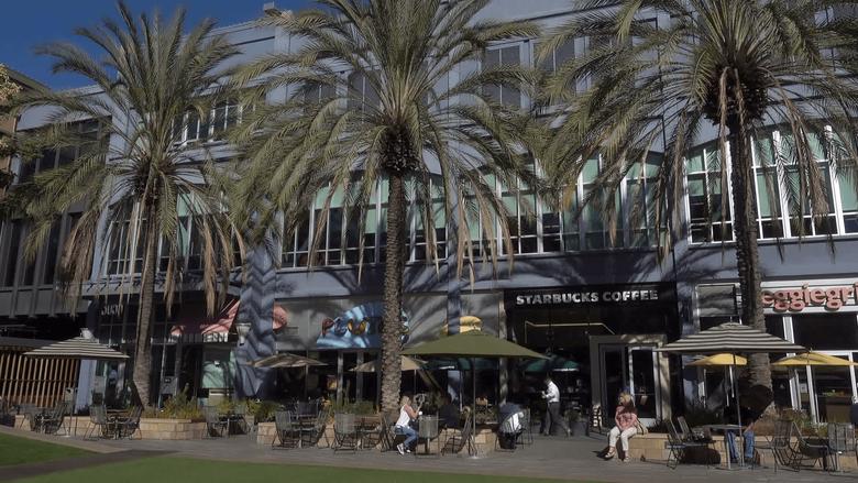 Santana Row mall San Jose California USA Stock Video Footage