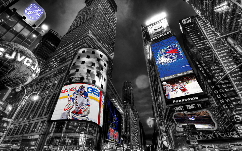 NHL New York Rangers Times Square Wallpapers by Realyze