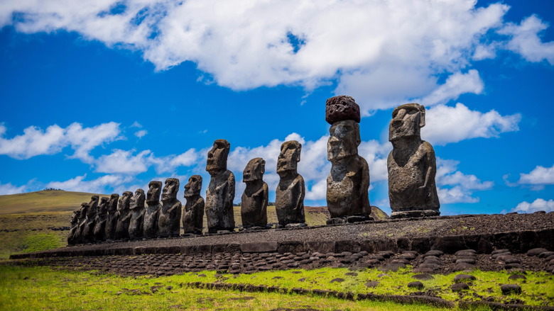 Moai Easter Island Stone Statues Wallpapers