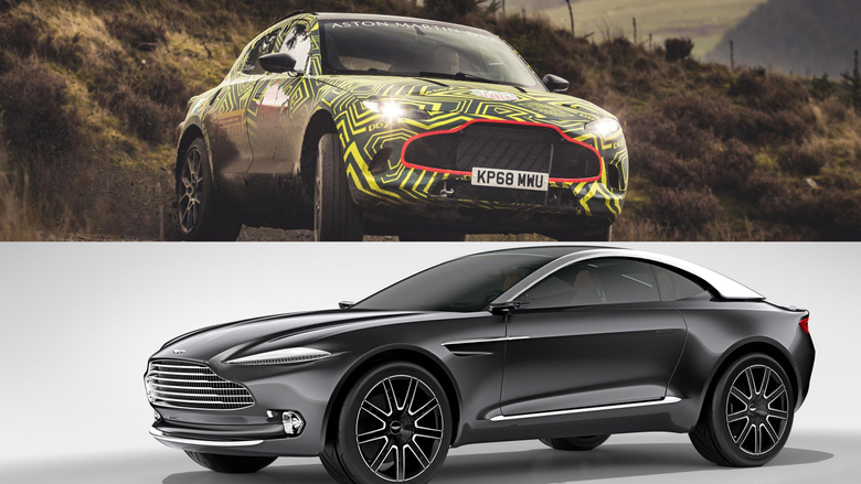 Visual Comparison Between The Aston Martin DBX Prototype And The
