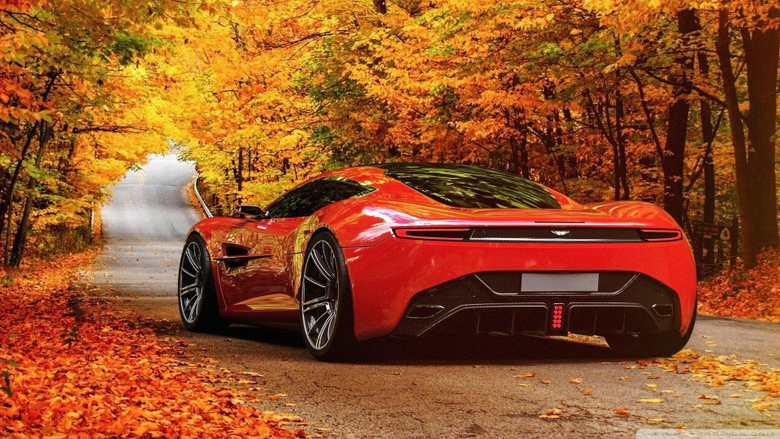Aston Martin in sexy red Wallpaper