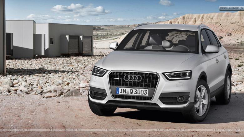 Audi Q3 Standing in Desert Wallpapers