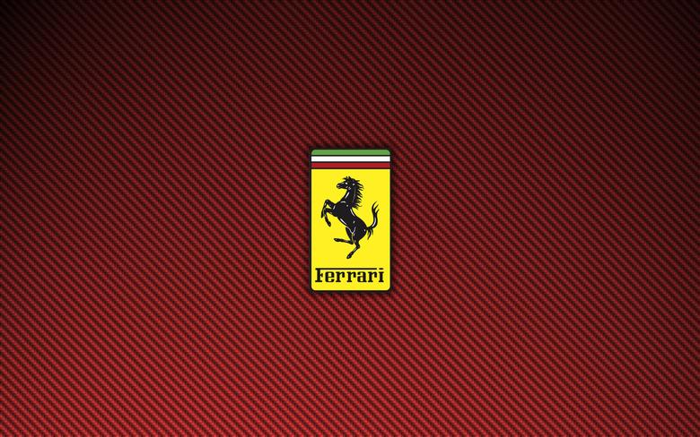 Ferrari Logo Red Carbon Fiber Wallpapers 1440×900